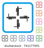 pointing men icon. flat gray... | Shutterstock .eps vector #741177091