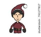 santa helper icon | Shutterstock .eps vector #741177817