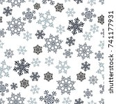 snowflakes seamless pattern.... | Shutterstock .eps vector #741177931