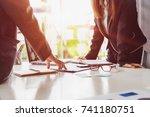 start up teamwork diversity and ... | Shutterstock . vector #741180751