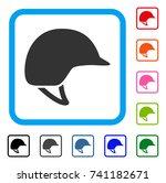 motorcycle helmet icon. flat... | Shutterstock .eps vector #741182671