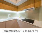 kitchen interior  modern design | Shutterstock . vector #741187174