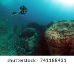 scuba diving in malta | Shutterstock . vector #741188431