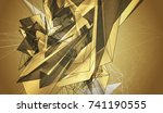 bright gold illustration with... | Shutterstock . vector #741190555