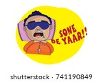 indian themed chat stickers   a ... | Shutterstock .eps vector #741190849