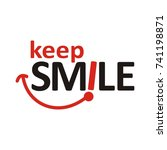 keep smile logo design template ... | Shutterstock .eps vector #741198871
