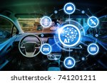 ai artificial intelligence and... | Shutterstock . vector #741201211