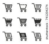 handcart vector icons set.... | Shutterstock .eps vector #741204274
