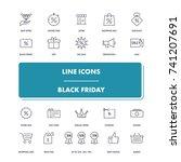 line icons set. black friday...