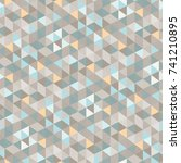 triangle seamless pattern.... | Shutterstock .eps vector #741210895