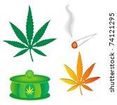 weed set | Shutterstock .eps vector #74121295