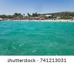 seascape at paros  greece | Shutterstock . vector #741213031