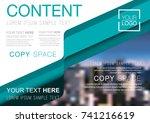 presentation layout design... | Shutterstock .eps vector #741216619