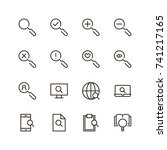 magnifying icon set. collection ...