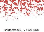 light red vector hearts... | Shutterstock .eps vector #741217831