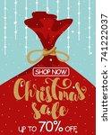 christmas sale. vector... | Shutterstock .eps vector #741222037