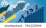 vector illustration. business... | Shutterstock .eps vector #741222544