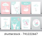 Set Of Baby Shower Invitations...