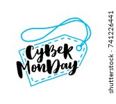 cyber monday sale lettering... | Shutterstock .eps vector #741226441