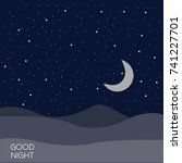 night time sky background. good ... | Shutterstock .eps vector #741227701