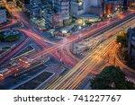 bangkok cityscape expressway... | Shutterstock . vector #741227767