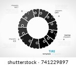 safety infographic template... | Shutterstock .eps vector #741229897