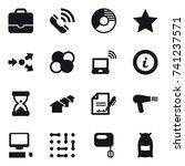 16 vector icon set   portfolio  ... | Shutterstock .eps vector #741237571