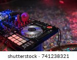 dj is rhythm music with... | Shutterstock . vector #741238321