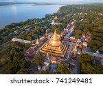 aerial view at the ancient... | Shutterstock . vector #741249481