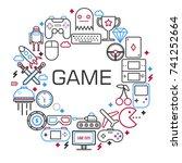 internet games poster of... | Shutterstock .eps vector #741252664