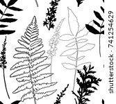 floral vector seamless pattern... | Shutterstock .eps vector #741254629
