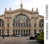 paris  france   june 18  2014 ... | Shutterstock . vector #741255481