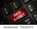 message on broken red enter key ... | Shutterstock . vector #741265171