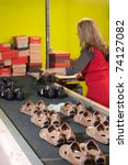 Footwear Factory Worker At The...