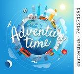 adventure time vector... | Shutterstock .eps vector #741271291