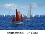 atlantic rally for cruisers... | Shutterstock . vector #741283
