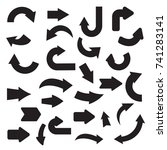 collection of flat black arrow   Shutterstock .eps vector #741283141