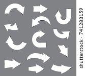 white arrow paper sticker   Shutterstock .eps vector #741283159