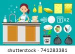 principles of cleaning the... | Shutterstock .eps vector #741283381