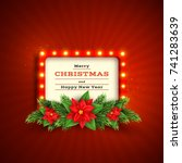 christmas holiday background... | Shutterstock .eps vector #741283639