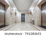 interior of modern elevator... | Shutterstock . vector #741283651