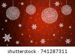 dark red vector christmas...   Shutterstock .eps vector #741287311