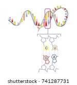 the schematic illustration... | Shutterstock . vector #741287731
