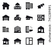 16 vector icon set   home ... | Shutterstock .eps vector #741289891
