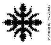ossetian ornament. ornamental... | Shutterstock .eps vector #741295657