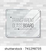 transparent shining glass... | Shutterstock .eps vector #741298735