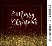 merry christmas greeting card | Shutterstock .eps vector #741300805