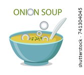 hot bowl of soup  dish isolated ...