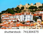lisbon  portugal. a view at a... | Shutterstock . vector #741304375