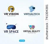 vr logo design template set.... | Shutterstock .eps vector #741304381